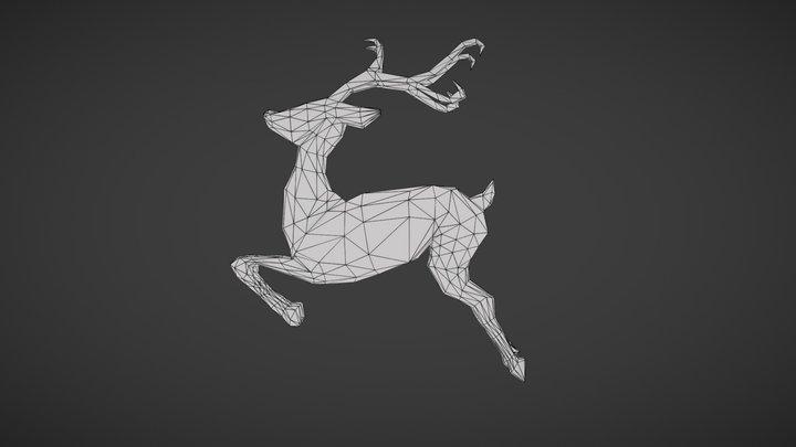 #3December- Deer #6 |  Minimalist 3D Model