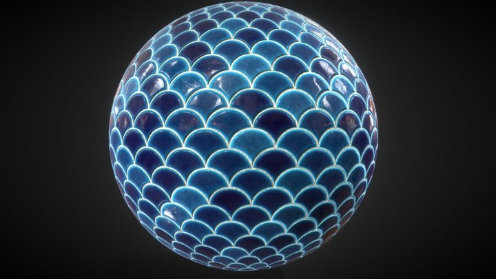 Scale Fish PBR Texture 3D Model