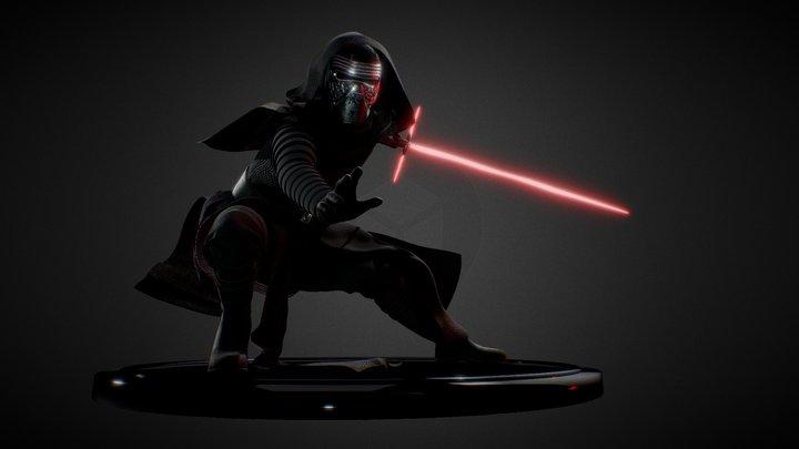 Kylo Ren Attack 3D Model