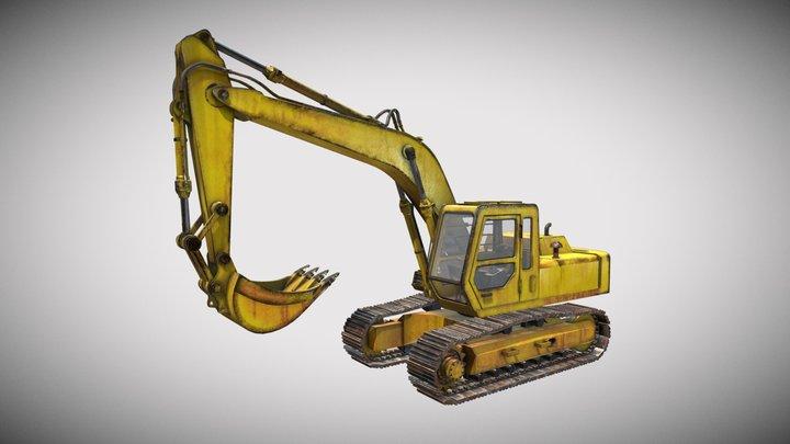 Excavator Crane on Duty 3D Model