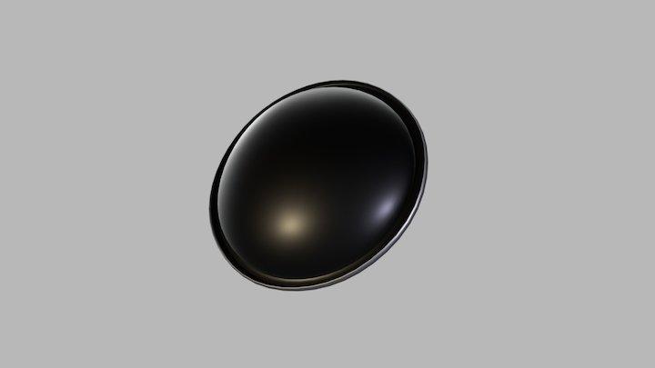 Tinplate Areosol Bottom Diam. 54 mm 3D Model