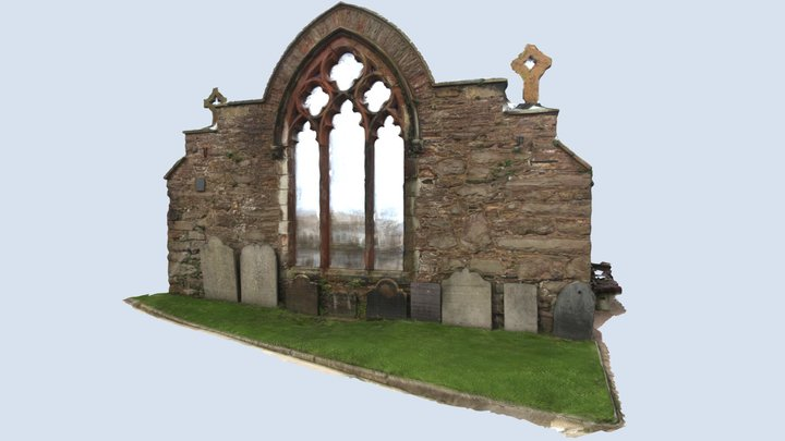 St Peters, Peel, Isle of Man. 3D Model