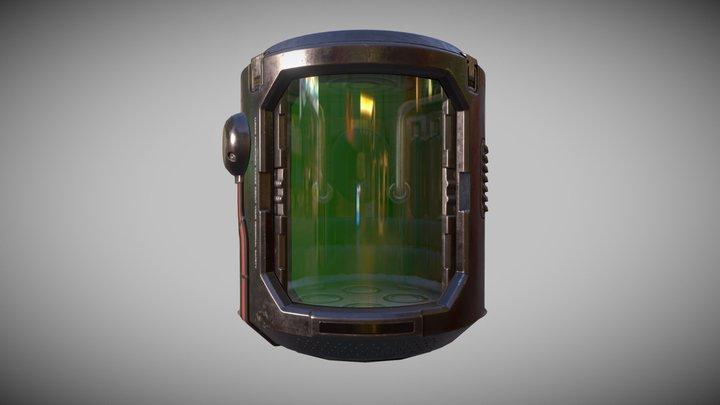 Snapchat Head in a Jar Lens 3D Model