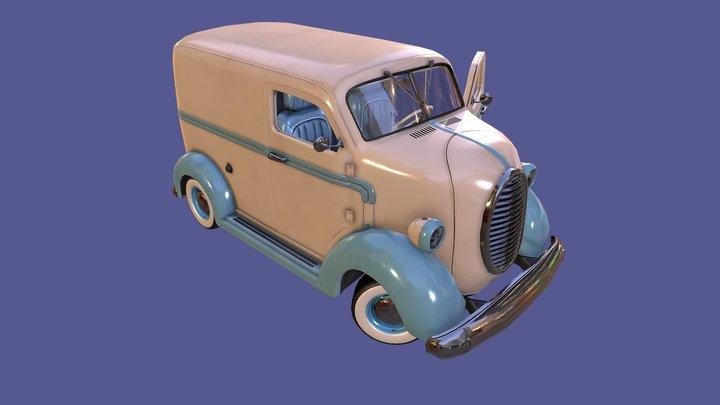 Custom COE Delivery Van 3D Model