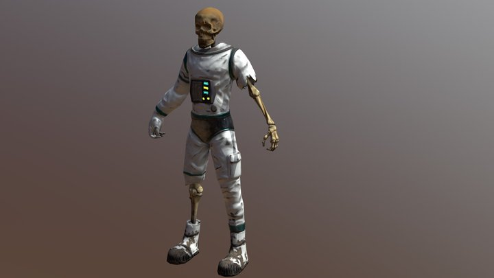Skeleton without accessories 3D Model