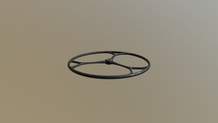 Carbon steering wheel 3D Model