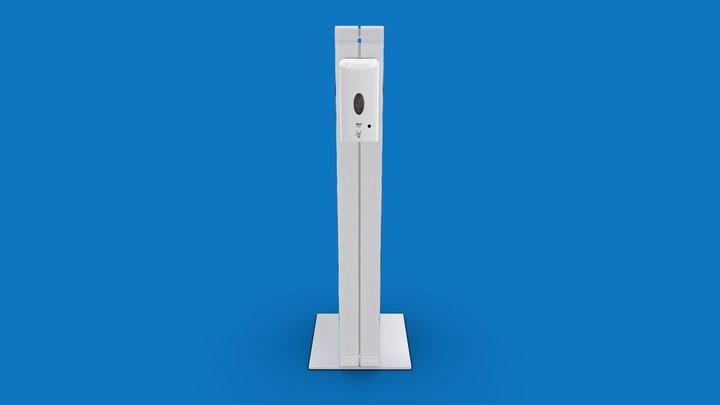 Infostele mit Desinfektionspender - PT-version 3D Model