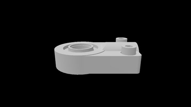 Self-aligning clevis for piston rod end ISO 6... 3D Model