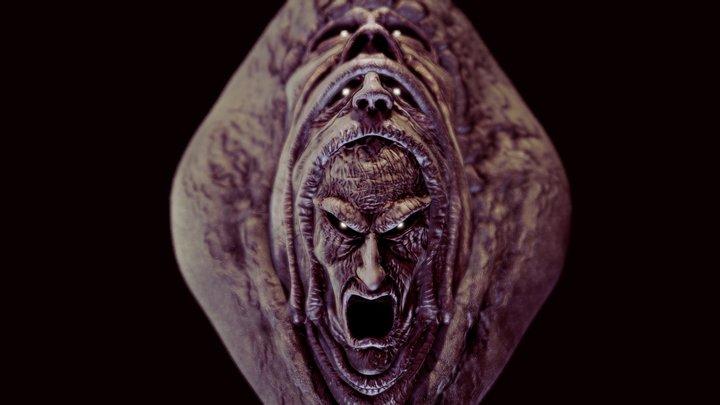 Elder Centipede - face 3D Model