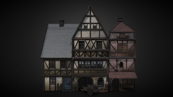 Hamlet Facade Left 3D Model