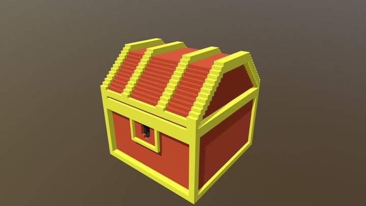 Voxel Treasure Box 3D Model