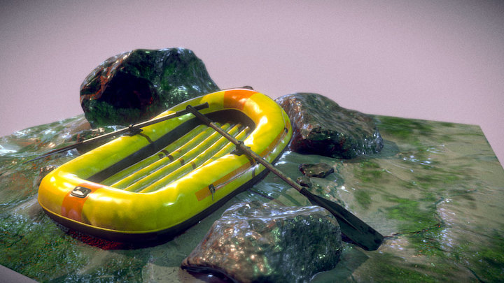 Stuck in the rocks 3D Model