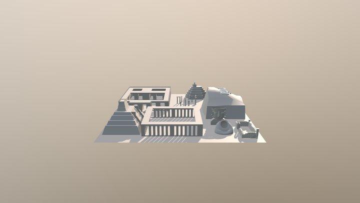 Aztec blockaut 3D Model