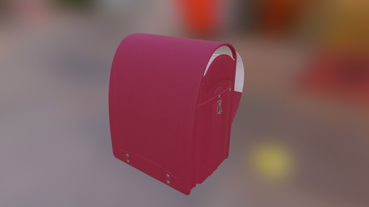 100% Authentic Japanese Schoolbag Ransel 3D Model