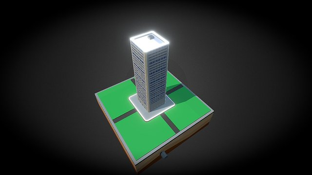 Low Poly Skyscraper 3D Model