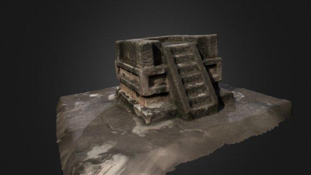 Tempo miniatura de Tetitla. 3D Model