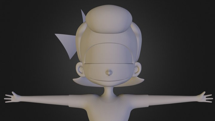 """Voice"" Student Film Character Model - Felicity 3D Model"