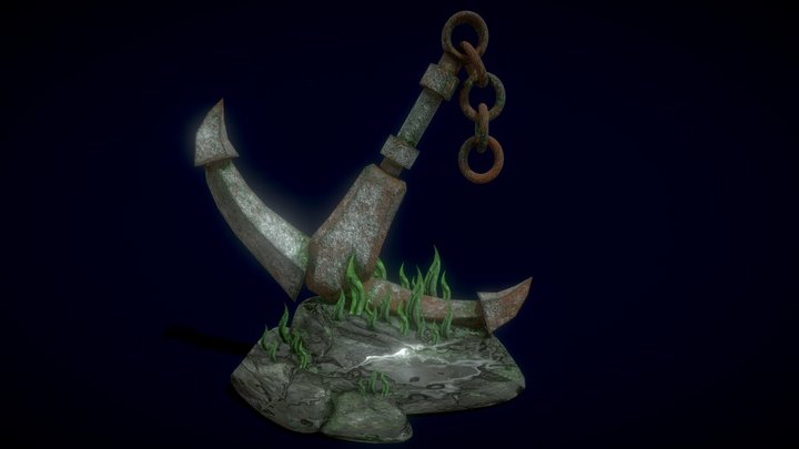 anchor on the sea floor 3D Model