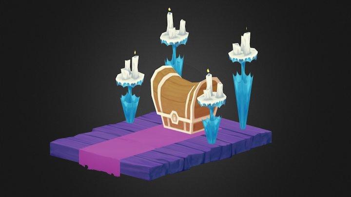 Big Videogame Chest 3D Model