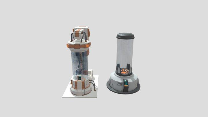 Cryo Chambers Pack 3D Model