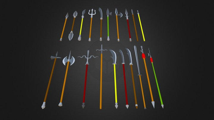 Spears and Pikes - Low Poly 3D Model