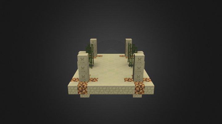 Desert Battle Arena 3D Model