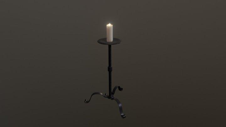 Light Source - Candlestick 3D Model