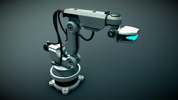 Futuristic CarFactory - MachineVision RoboticArm 3D Model