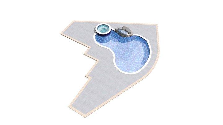 E-1 Akahoshi Pool & Spa PLAN 1 3D Model