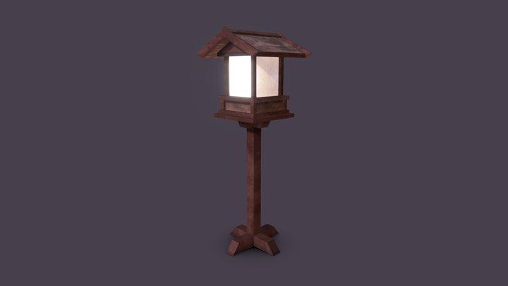 Japanese Standing Lantern 3D Model