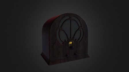 1930's Cathedral Radio 3D Model