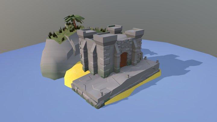 Game Art Island 3D Model