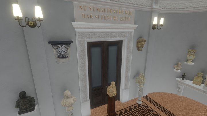 Simu Museum, entry room. 3D Model