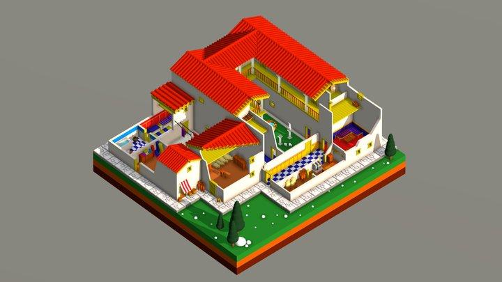 The Greek House 3D Model