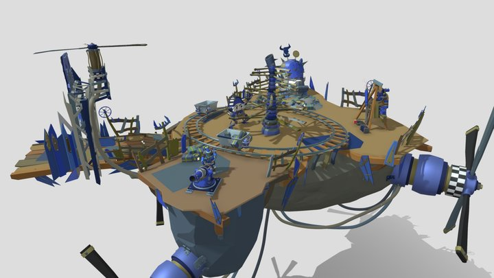 XYZ 2021 NewYear Team Draft: WarHammer Ztyle 3D Model