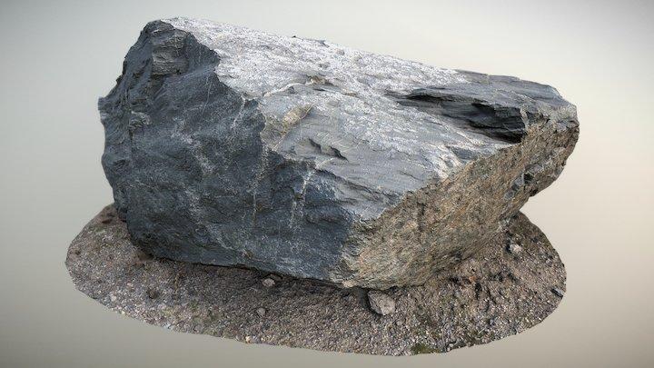 Gray Big Rock 3D Model