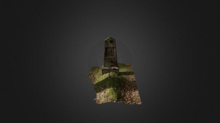A grave marker 3D Model