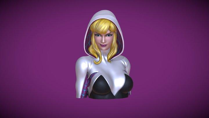 Spider-Gwen bust bank 3D Model
