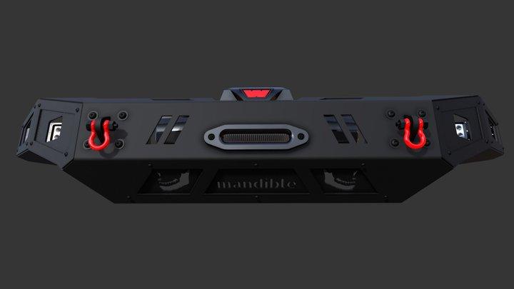 mandible - 2017 Ford HD Jawbone Front Bumper 3D Model