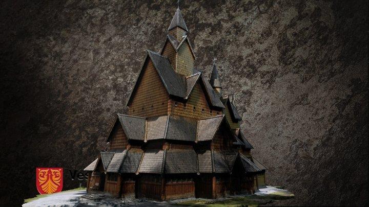 Heddal stavkirke 3D Model