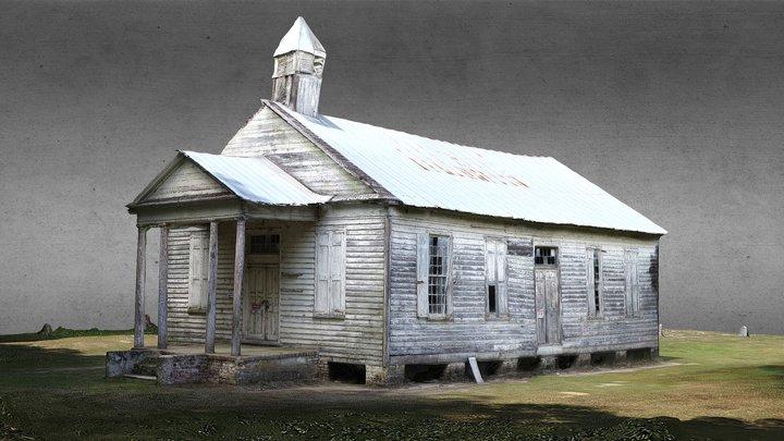 """American Ruins: Taveau """"Tabo"""" Church 3D Model"""