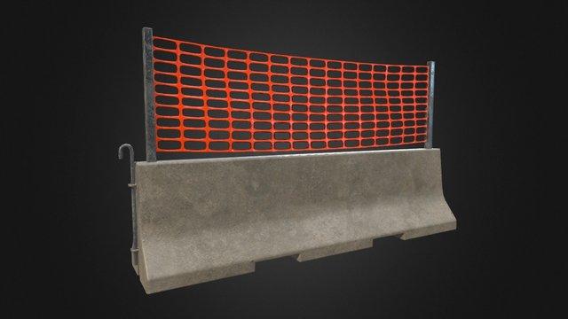 Concrete Barrier v3_1 3D Model
