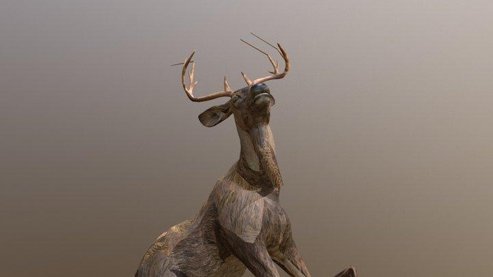 Drijfjacht Dying deer 3D Model