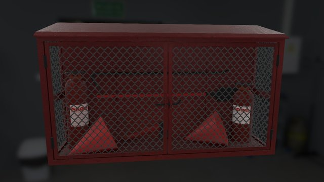 Fire Protection Stand 3D Model