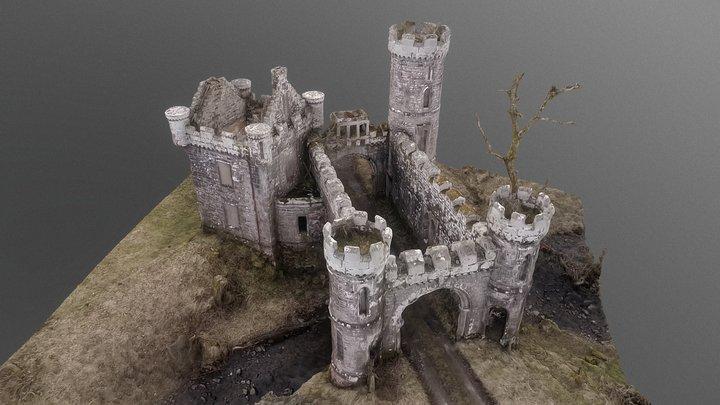 Monzie castle gate house 3D Model
