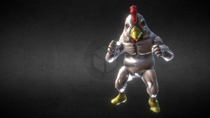 muscle chicken 3D Model