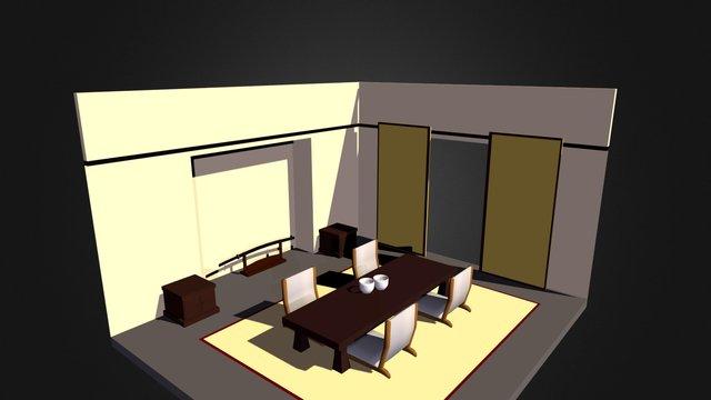 sala japonesa 3D Model