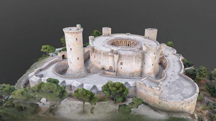 Bellver castle 3D Model