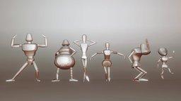 6 woody character 3D Model