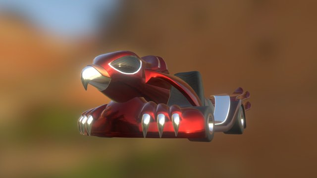 The Red Falcon Kart 3D Model